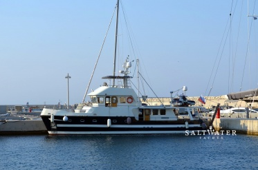 Steel Motor Trawler for Sale. Saltwater Yachts