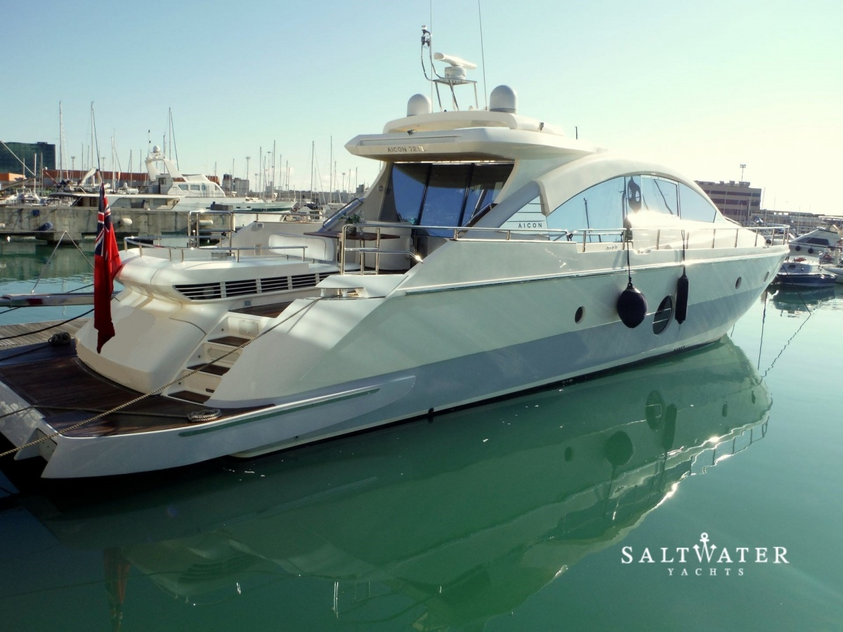 Aicon 72 for sale used motor yachts for sale salwater for Used motor yacht for sale
