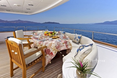 O'Rion Super Yacht for charter in Greece and Mediterranean. Morot Yacht charter in Greece. Saltwater Yachts