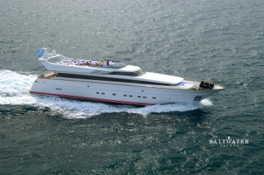 Pollux Cantieri Di Pisa Akhir 110 Luxury Motor Yacht for charter in Greece and Mediterranean. Saltwater Yachts