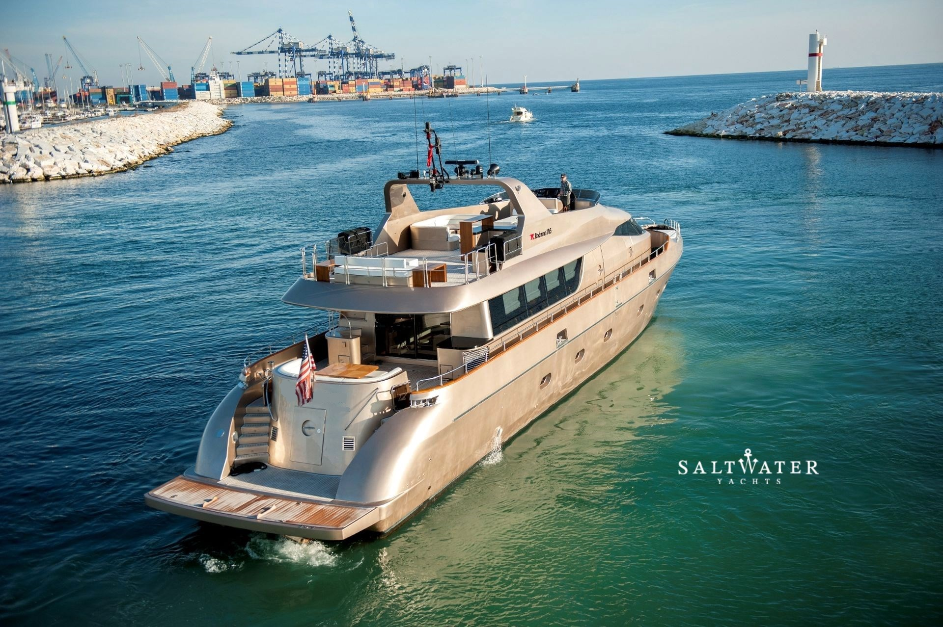 Rodman 105 super yacht for sale by saltwater yachts for Luxury motor boats for sale